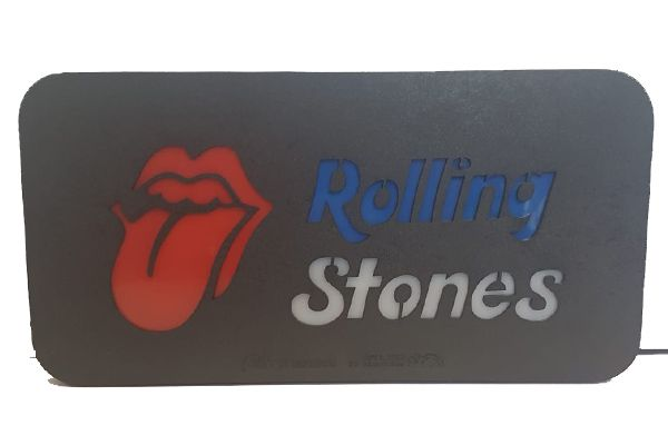 Quadro Led  - Rolling Stones - Medio  - Billbox Records