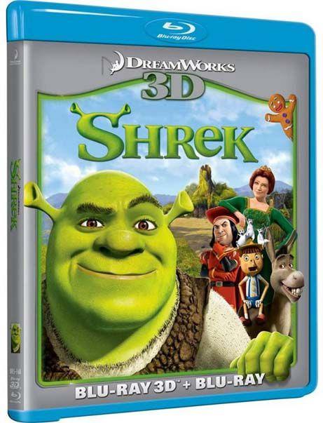 Shrek Blu Ray 3 D + Blu Ray - Blu Ray Nacional  - Billbox Records