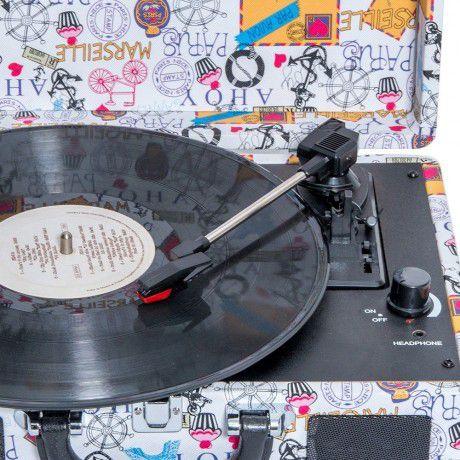 Vitrola Toca Discos Paris  - Billbox Records