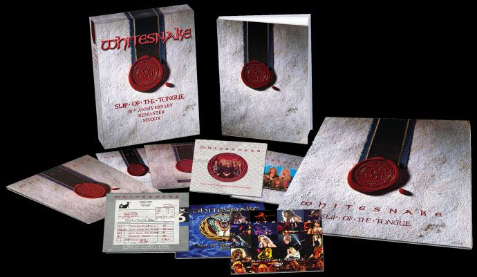 Whitesnake - Slip Of The Tongue 30th Anniversary Edition  - 6 Cds + Dvd Importados  - Billbox Records