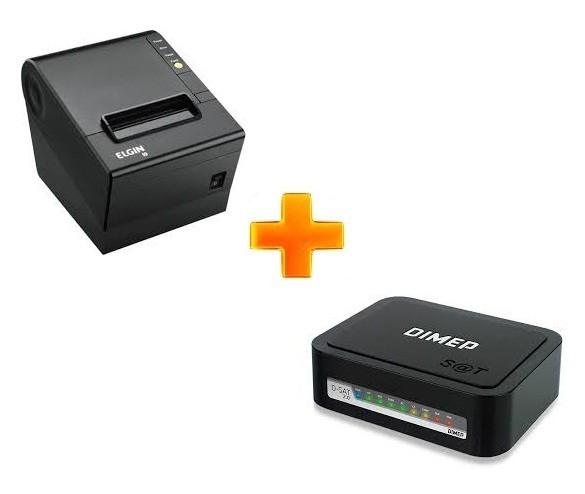 Kit SAT Fiscal Dimep D-SAT2 +  Impressora Térmica Elgin I9 USB