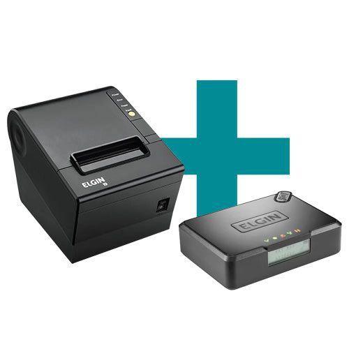 Kit SAT Fiscal Elgin Smart + Impressora de Cupom Elgin i9 c/ Guilhotina