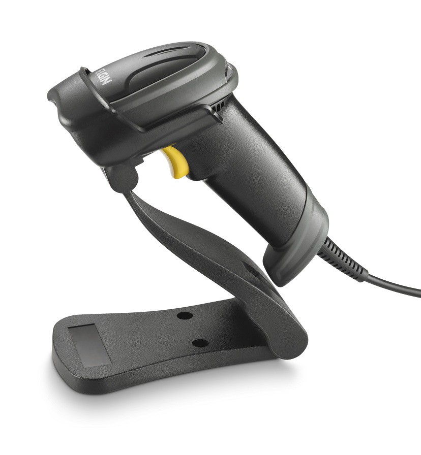 Leitor de código de barras Elgin EL250  1D e 2D USB com suporte  - Haja Automação
