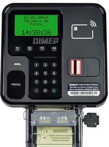 Relógio de Ponto Dimep Smart Point FS-01 - Com Leitor Biométrico, Impressora e Wi-Fi - Até 100 Funcionários  - Haja Automação