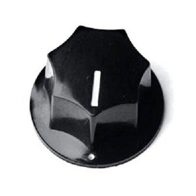 Knob Plástico Preto P/ Baixo - Jazz Bass - Modelo grande  - Luthieria Brasil