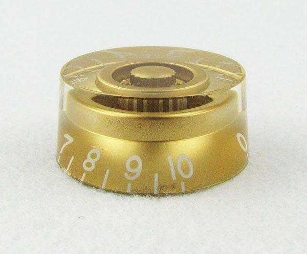 Knob Speed Dourado P/ Les Paul - Modelo p/ Canhoto (números em sentido inverso)  - Luthieria Brasil