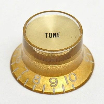 Knob Plástico Dourado com topo Dourado P/ Guitarra SG - Tone  - Luthieria Brasil