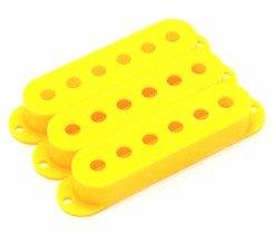 Capa para captador single amarelo de plástico - Spirit - Kit com 3 unidades  - Luthieria Brasil