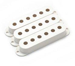 Capa para captador single branca de plástico - Spirit - Kit com 3 unidades  - Luthieria Brasil