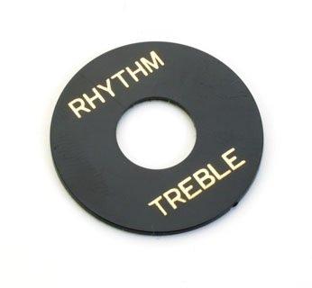 Moldura p/ chave seletora Les Paul preta TREB/RHYT  - Luthieria Brasil