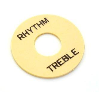 Moldura p/ chave seletora Les Paul creme TREB/RHYT  - Luthieria Brasil