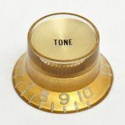Knob Plástico Dourado com topo Dourado P/ Guitarra SG - Tone
