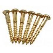 Parafuso dourado p/ ponte strato - kit c/ 06 peças (25mm x 3,5mm)