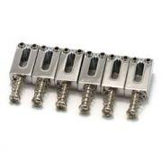 Carrinhos (saddles) cromados para guitarra - Espaçamento 10.5mm - Kit com 6 peças - Sung-il (PS001)