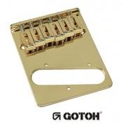 Ponte Dourada estilo Tele c/ 6 carrinhos (Moderna) para guitarra -  Gotoh (GTC202-GD)