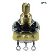 Potenciômetro CTS (eixo médio/base grande) para guitarra/baixo A250k