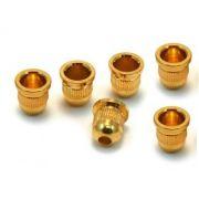Buchas inferiores douradas para contrabaixo (padrão 1) - Kit com 6 peças
