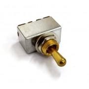 Chave seletora 3 posições Les Paul dourada com knob (de metal) dourado (modelo 2)