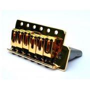 Ponte Dourada estilo Stratocaster para guitarra (Bloco 36mm) - Sung-il (BS006)