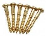 Parafuso dourado p/ ponte strato - kit c/ 06 peças (25mm x 3,5mm)  - Luthieria Brasil