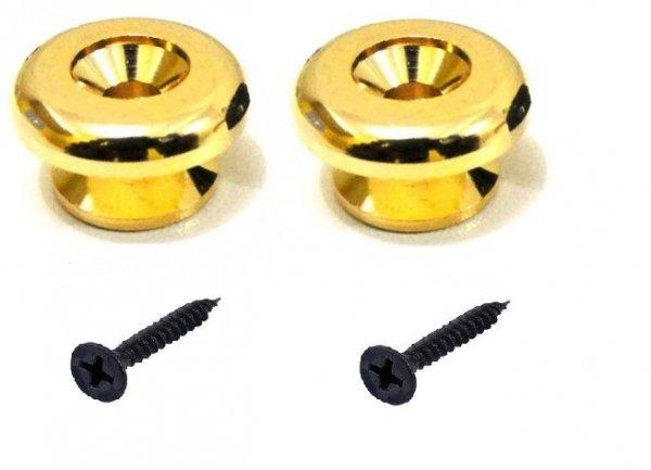 """Roldana grande """"luxo"""" dourada para correia - Kit com 2 unidades  - Luthieria Brasil"""