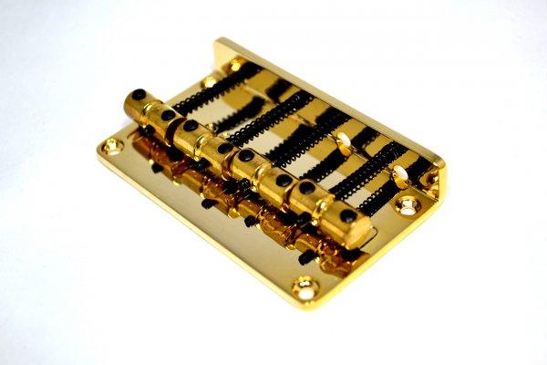 Ponte Dourada para contrabaixo Jazz Bass 04 cordas - 20mm - Sung il (BB021)  - Luthieria Brasil