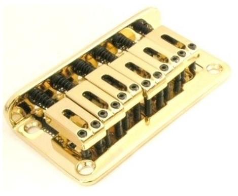 Ponte Dourada Fixa para Guitarra - Sung-il (BN003)  - Luthieria Brasil