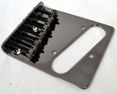 Ponte Cosmo Black estilo Telecaster para guitarra - Sung-il (BT002)  - Luthieria Brasil