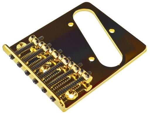 Ponte Dourada estilo Telecaster para guitarra - Sung-il (BT002)  - Luthieria Brasil