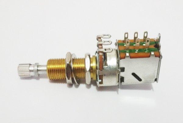 Potenciometro Spirit Push Pull para guitarra/baixo B500k eixo super longo  - Luthieria Brasil