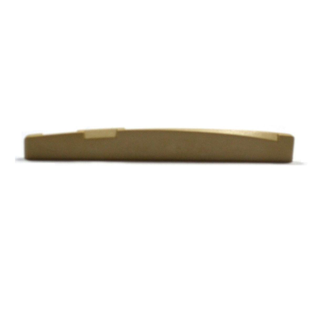"""Rastilho com compensação de oitava de plástico cor """"areia""""  para violão/viola (3mm x 7.4/6.0mm x 74mm) - Alice (A026GGY)  - Luthieria Brasil"""