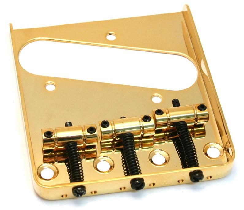Ponte Dourada estilo Telecaster Vintage (3 carrinhos) para Guitarra - Sung-il (BT005)  - Luthieria Brasil