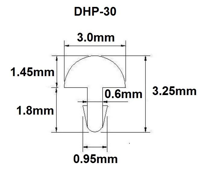 Traste DHP-30 extra jumbo para guitarra/baixo - 1,45mm (altura) x 3,0mm (largura) x 1 metro (metro)  - Luthieria Brasil