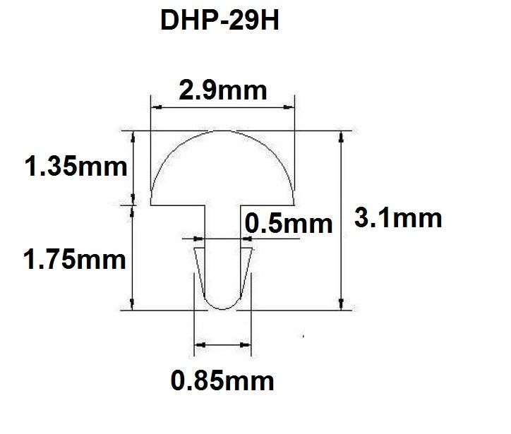 Traste DHP-29H extra jumbo para violão/guitarra/baixo - 1,35mm (altura) x 2,9mm (largura) x 1 metro (metro)  - Luthieria Brasil