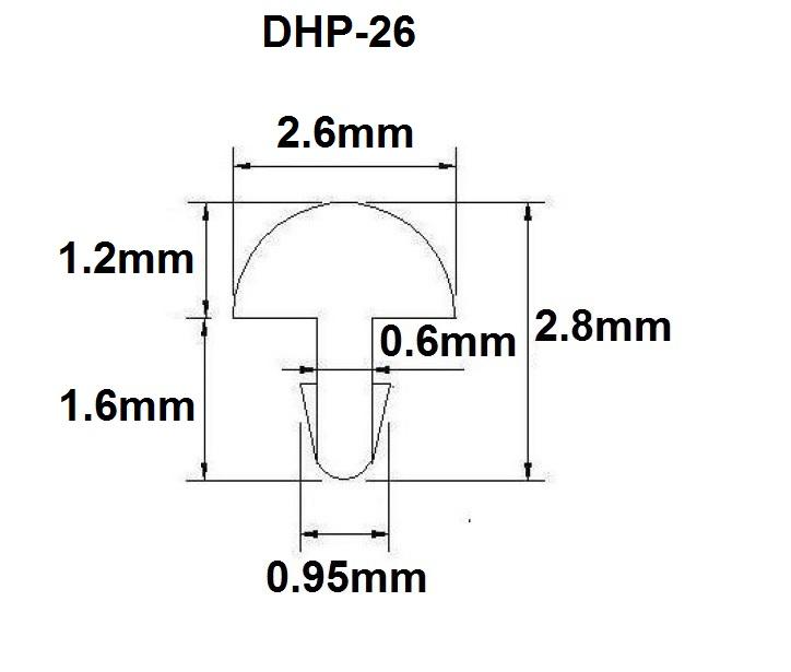 Traste DHP-26 médio/jumbo para violão/guitarra/baixo - 1,2mm (altura) x 2,6mm (largura) x 1 metro (metro)  - Luthieria Brasil