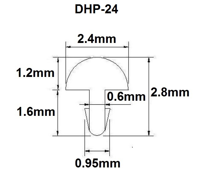 Traste DHP-24 médio/jumbo para violão/guitarra/baixo - 1,2mm (altura) x 2,4mm (largura) x 1 metro (metro)  - Luthieria Brasil