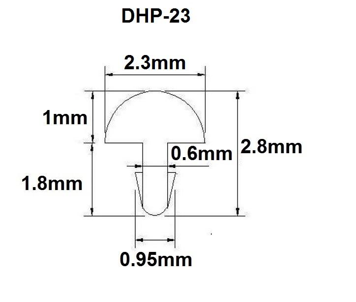 Traste DHP-23 médio para violão/guitarra/baixo - 1,0mm (altura) x 2,3mm (largura) x 1 metro (metro)  - Luthieria Brasil