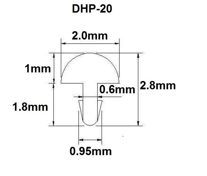 Traste DHP-20 médio para cavaco/violão/guitarra - 1,0mm (altura) x 2,0mm (largura) x 1 metro (metro)  - Luthieria Brasil