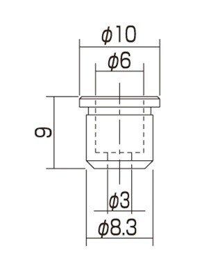 Buchas inferiores cromadas para guitarra (TLB-1) - Gotoh - Kit com 6 peças  - Luthieria Brasil