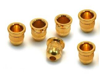 Buchas inferiores douradas para contrabaixo (padrão 1) - Kit com 6 peças  - Luthieria Brasil