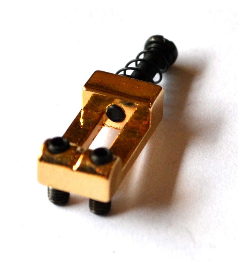 Carrinhos (saddles) dourados para guitarra - Espaçamento 10.5mm - Kit com 6 peças - Sung-il (PS002)  - Luthieria Brasil