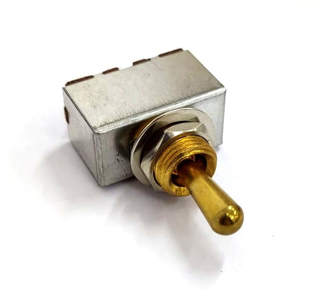 Chave seletora 3 posições Les Paul dourada com knob (de metal) dourado (modelo 2)  - Luthieria Brasil