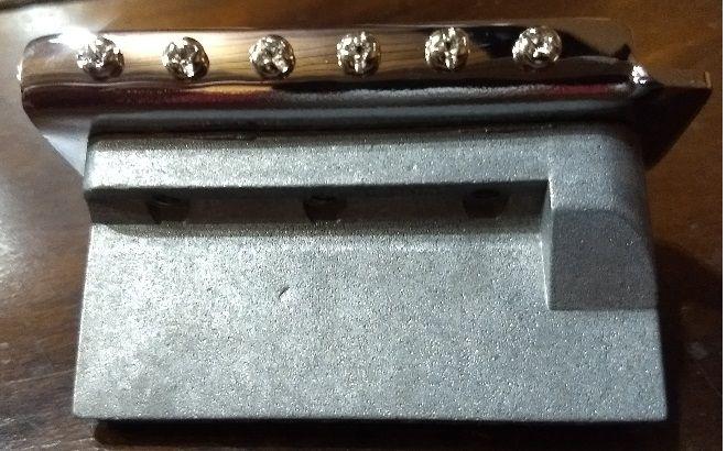 Ponte Cromada Vintage estilo Stratocaster para guitarra (Bloco 36mm) - Sung-il (BS005)  - Luthieria Brasil