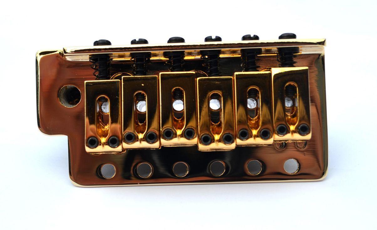 Ponte Dourada estilo Stratocaster para guitarra (Bloco 36mm) - Sung-il (BS006)  - Luthieria Brasil