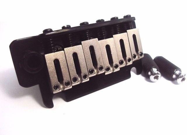 Ponte Preta estilo Stratocaster para guitarra com carrinhos de aço inox (Bloco 40mm) - Sung-il (BS184)  - Luthieria Brasil