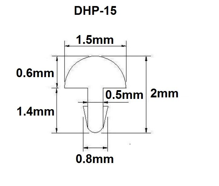 Traste DHP-15 fino para cavaco/banjo/bandolim - 0,6mm (altura) x 1,5mm (largura) - Rolo com 5 metros  - Luthieria Brasil