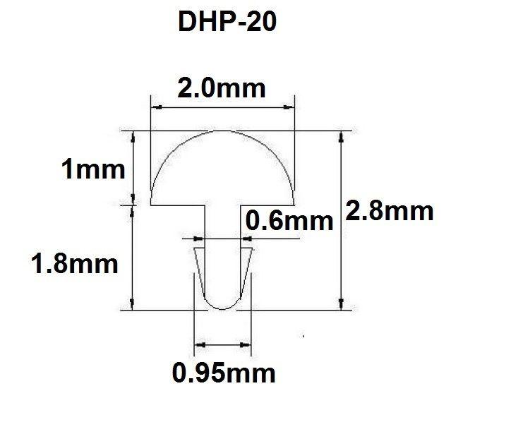 Traste DHP-20 médio para cavaco/violão/guitarra - 1,0mm (altura) x 2,0mm (largura) - Rolo com 3 metros  - Luthieria Brasil