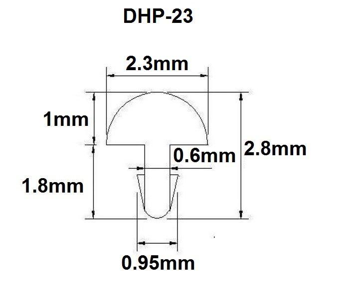 Traste DHP-23 médio para violão/guitarra/baixo - 1,0mm (altura) x 2,3mm (largura) - Rolo com 5 metros  - Luthieria Brasil