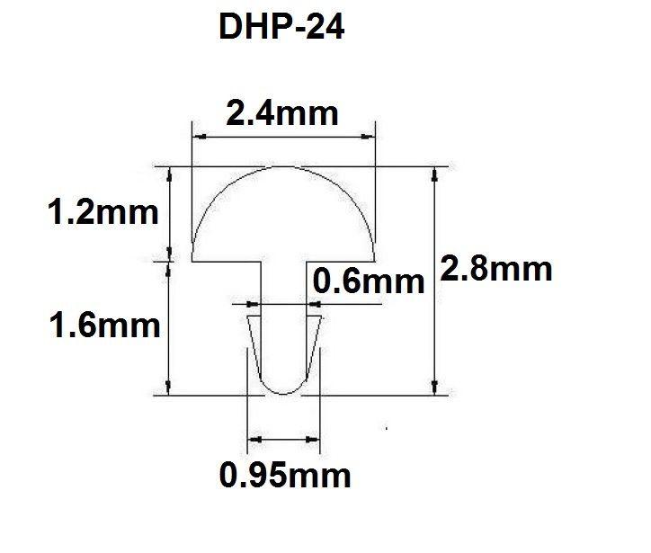 Traste DHP-24 médio/jumbo para violão/guitarra/baixo - 1,2mm (altura) x 2,4mm (largura) - Rolo com 5 metros  - Luthieria Brasil