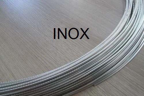 Traste INOX Alice médio para violão/guitarra/baixo - 1,0mm (altura) x 2,3mm (largura) - (A035SE-23) - Rolo 3 metros  - Luthieria Brasil